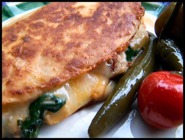 Mushroom, Spinach, And Gouda Quesadillas Recipe — Dishmaps