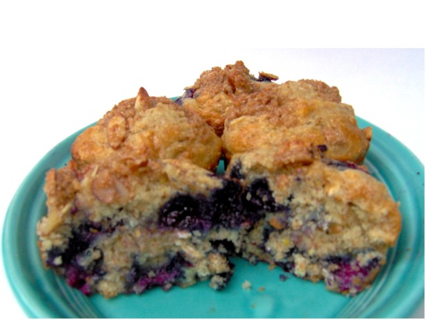 Blueberry Muffins With Almond Streusel Recipe - Food.com