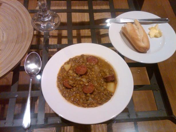 Spanish Lentil Soup With Chorizo Recipe - Food.com