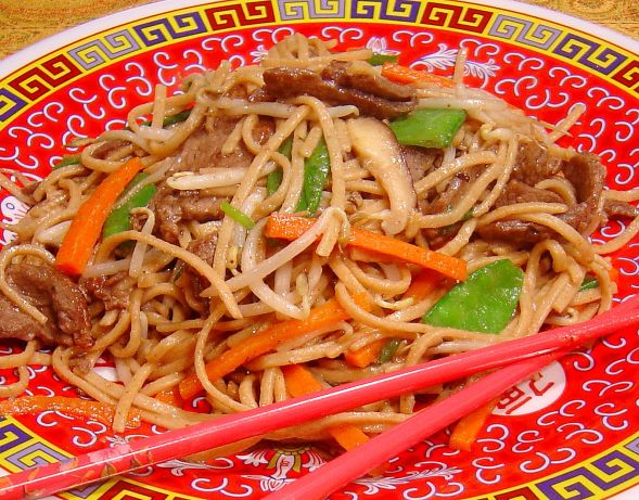 noodles chinese stir beef fried recipe lau sue food