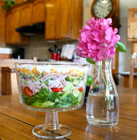... layered cobb salad framed layered cobb salad uptown layered cobb salad