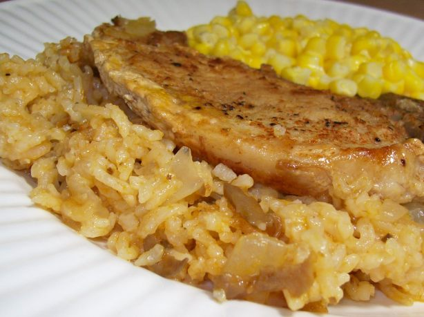 Simply Oven Baked Pork Chops And Rice Recipe Food Com