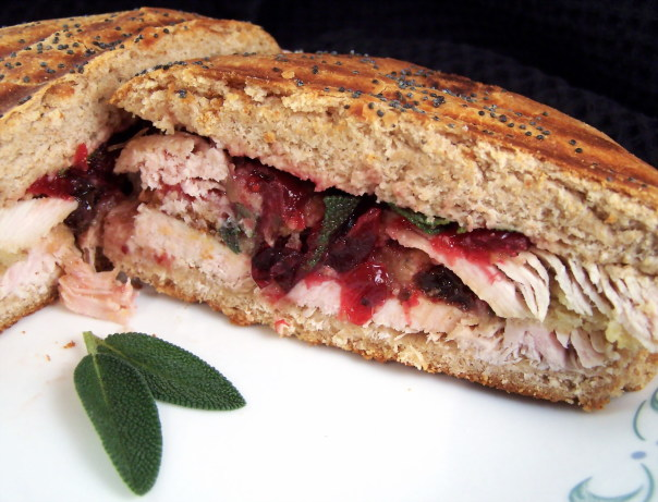 Turkey Cranberry Dressing Panini Recipe - Southern.Food.com