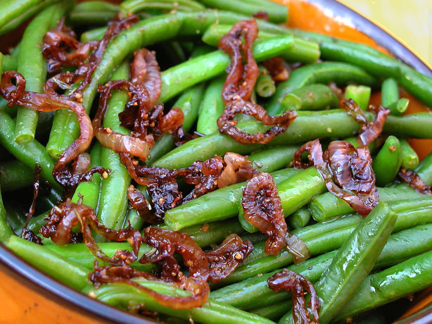 Green Beans With Caramelized-Shallot Butter Recipe - Thanksgiving.Food ...