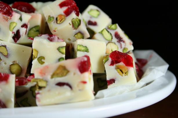 White Chocolate Cranberry And Pistachio Slice