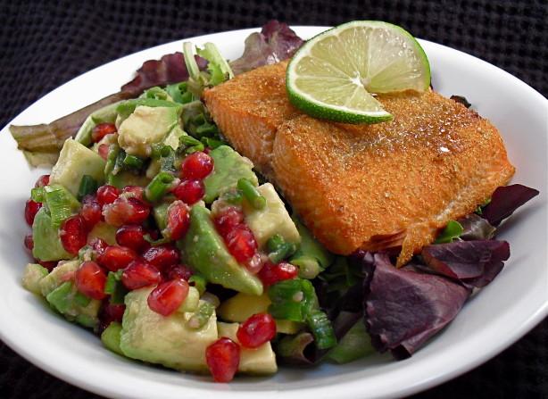 Salmon With Pomegranate-Avocado Salsa Recipe - Food.com