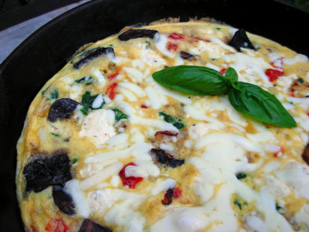 Mushroom Spinach Goat Cheese Frittata Recipe - Food.com