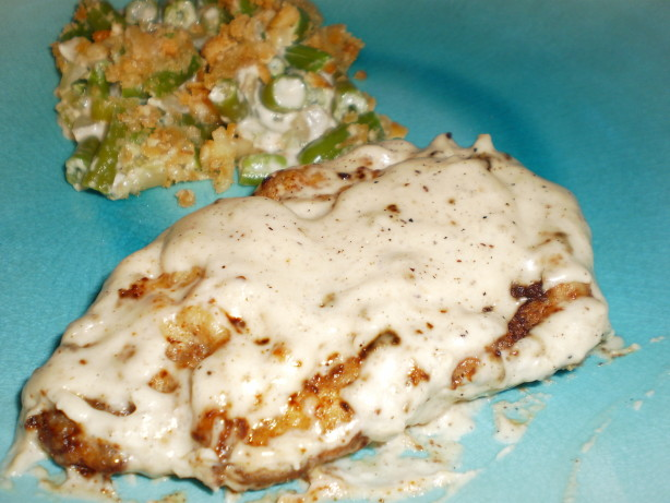 Chicken Fried Steak With Peppered Cream Gravy Recipe - Food.com