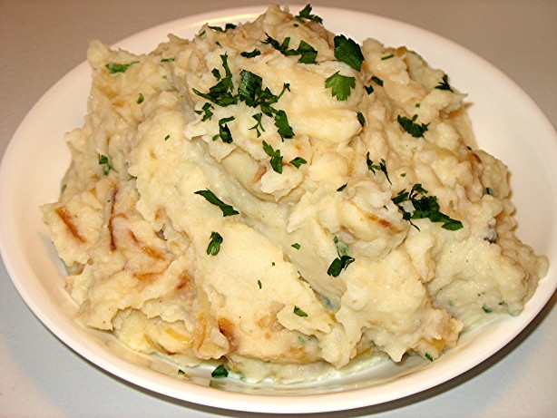Mashed Potatoes With Caramelized Onions And Horseradish Recipe - Food ...