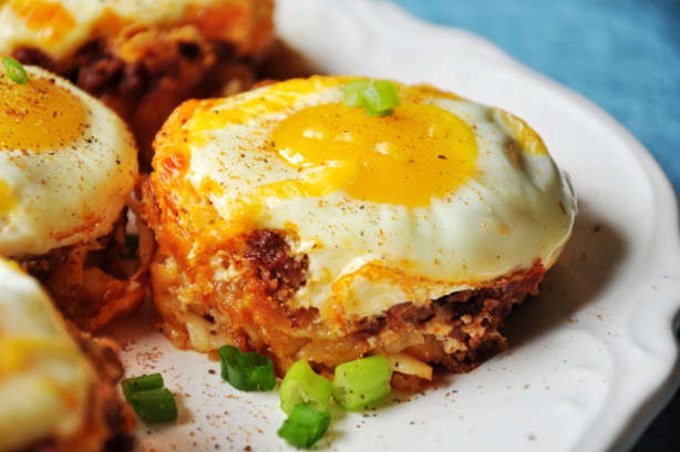 Tater Tot Cups With Cheese And Eggs Recipe Food Com