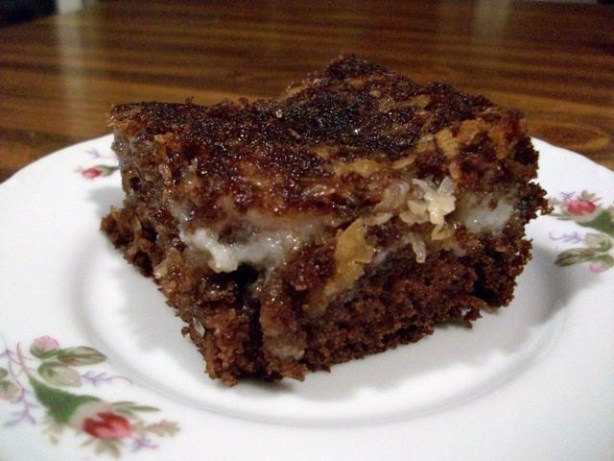 Coconut Oil German Chocolate Cake
