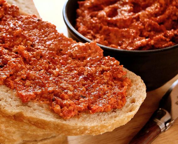Roast Pepper Spread With Walnuts And Garlic Recipe - Food.com