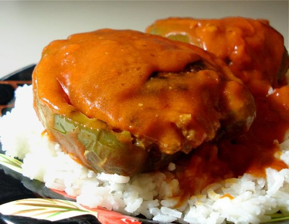 Moms Top-Of-The-Stove Stuffed Bell Peppers Recipe - Food.com