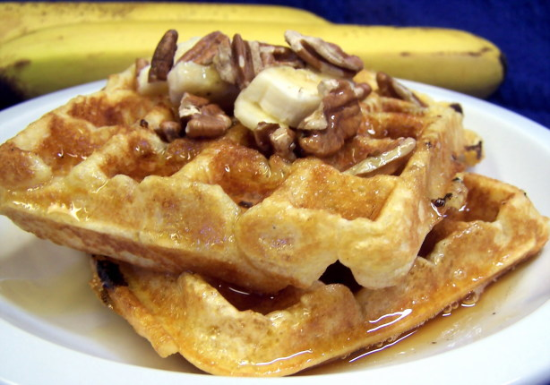 Banana Waffles With Toasted Pecans Recipe - Food.com
