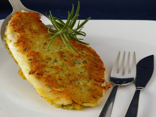 Potato rosemary crusted fish fillets recipe for Potato crusted fish