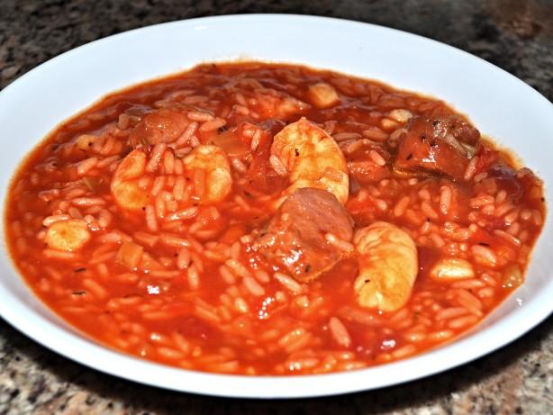 Shrimp, Scallop And Sausage Jambalaya Recipe - Food.com