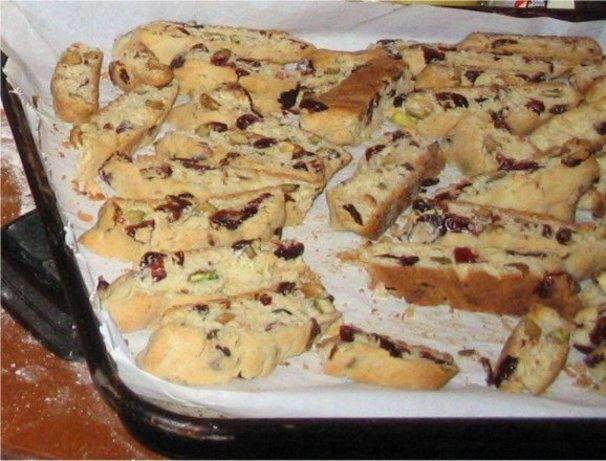 Pistachio Cranberry Biscotti Recipe - Italian.Food.com