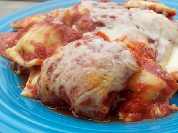 30-Minute Cheesy Baked Ravioli Recipe - Food.com