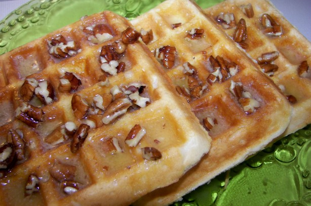 Country Waffles With Maple Pecan Butter Recipe - Food.com