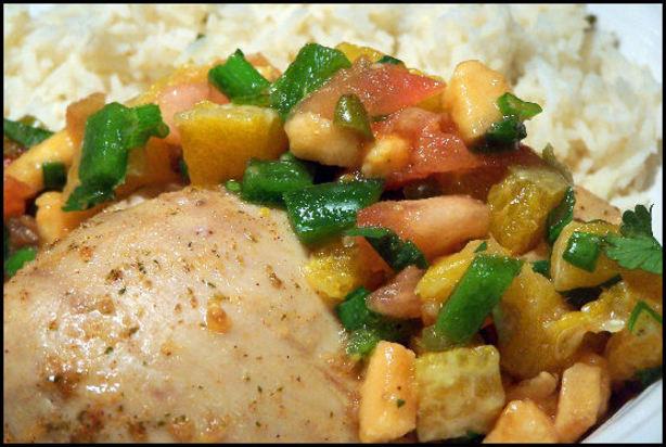 Island Mojito Chicken And Rice With Salsa Tropicale Recipe - Food.com