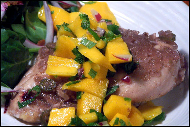 Spiced Rum-Sugar Chicken With Mango Mojito Salsa Recipe - Food.com
