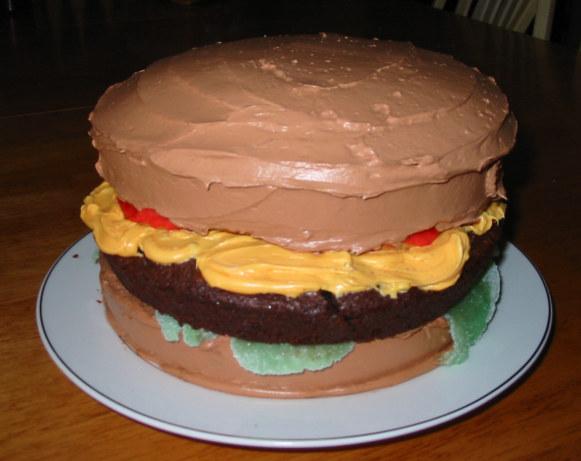 April Fools Day Cheeseburger Cake Recipe Food Com