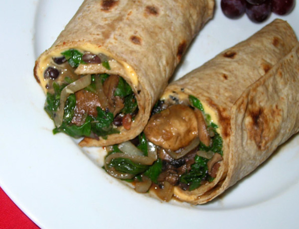 Veggie And Black Bean Wrap Recipe - Food.com