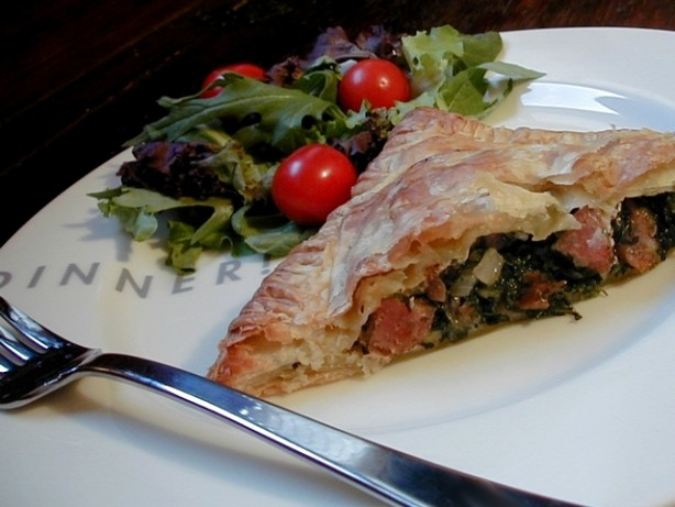 Sausage And Spi... Meat Spinach Cheese Pastry
