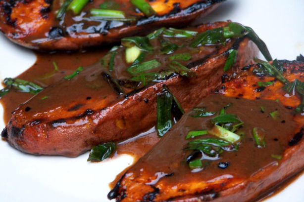 Grilled Sweet Potatoes With Scallions Recipe — Dishmaps