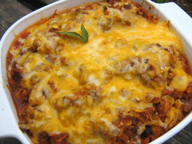 Low Carb Beef And Cheesy Spaghetti Squash Bake! Recipe - Food.com