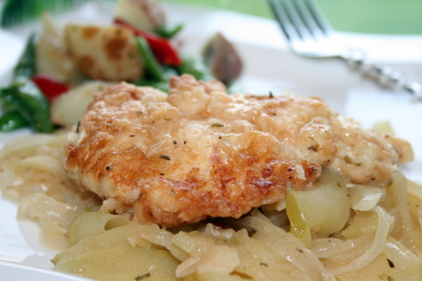 Sauced Chicken Breasts With Apples And Onions Recipe - Food.com