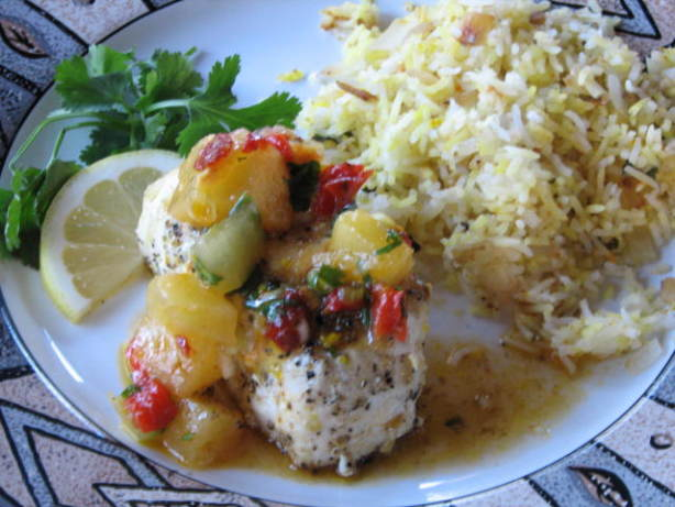 Grilled Halibut With Pineapple Chipotle Salsa Recipe - Food.com