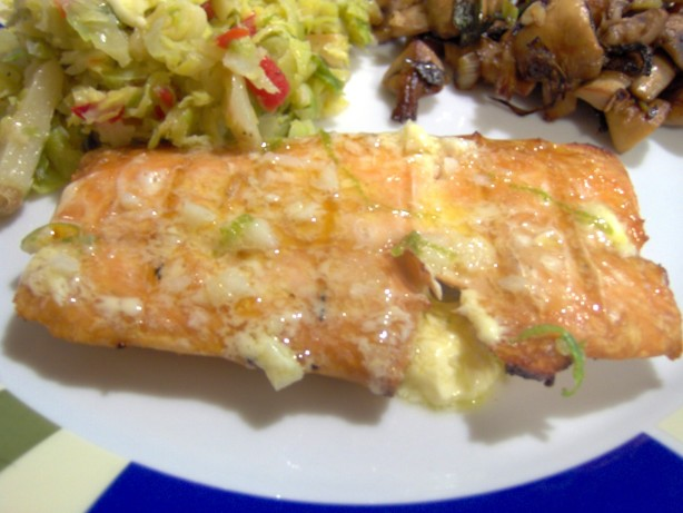 Grilled Salmon With Lime Butter Sauce Recipe - Food.com