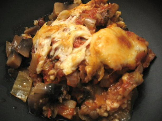 Baked Eggplant With Portabellas And Tomato Sauce Vegetarian) Recipe ...