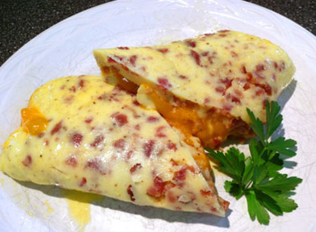 Bacon Cheddar Rolled Omelet Recipe - Food.com