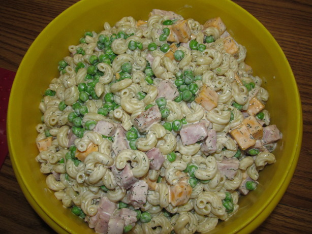 Pasta Salad Peas Ham And Cheese Recipe Food Com