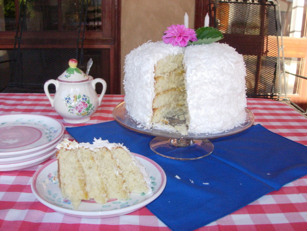 Layered Cake Recipes With Fillings: Coconut Layer Cake With Lemon Filling And Marshmallow-Like