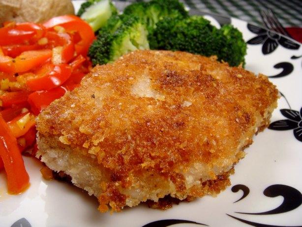 Pork steak recipe with bread crumbs