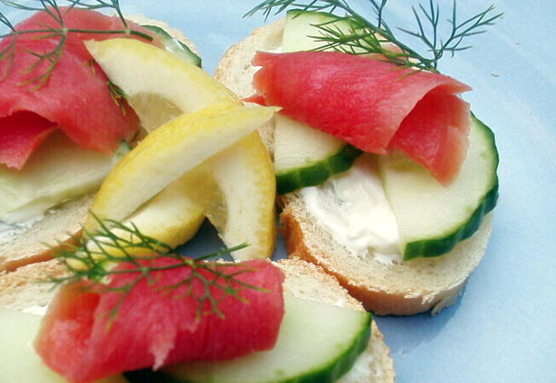 Open-Faced Salmon Tea Sandwiches Recipe - Food.com