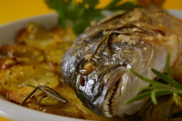 how to cook sea bream fish in the oven