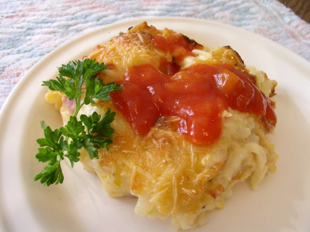 Cheesy Ham Hash Browns Casserole Recipe Food Com