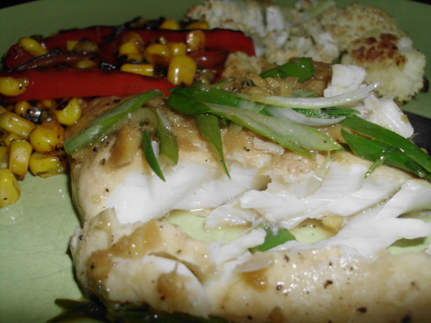 Steamed Cod With Ginger And Scallions Recipe - Food.com
