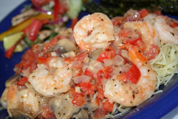 Shrimp And Veggies Italiano With Pasta Recipe - Food.com