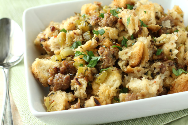 Crock Pot Bread And Sausage Stuffing Recipe - Food.com