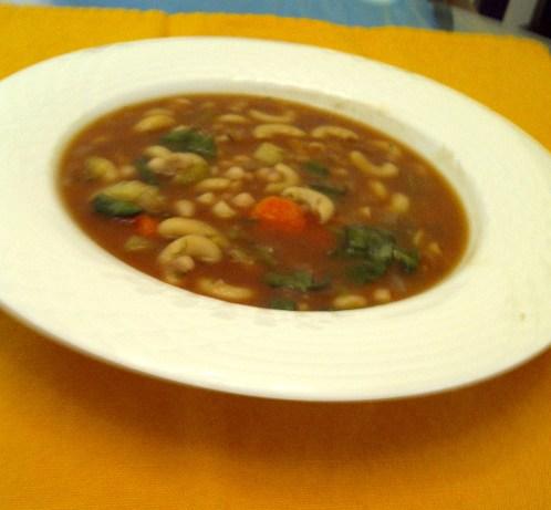 Hearty Vegan Navy Bean Soup Recipe - Low-cholesterol.Food.com