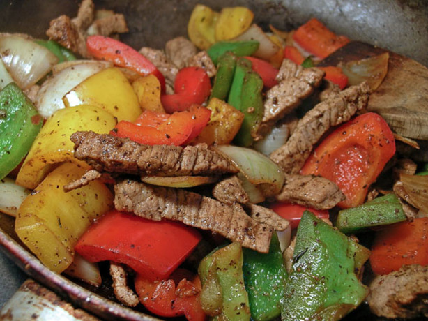 how to cook red peppers for fajitas