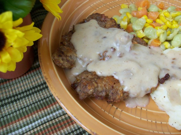 Texas Style Chicken Fried Steak With Cream Gravy Recipe - Food.com