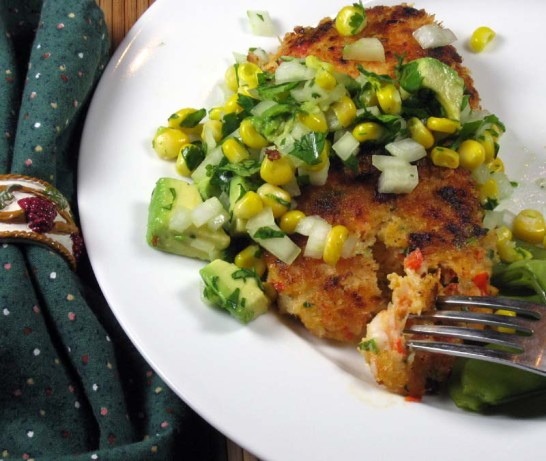 Spicy Shrimp Cakes With Corn And Avocado Salsa Recipe ...