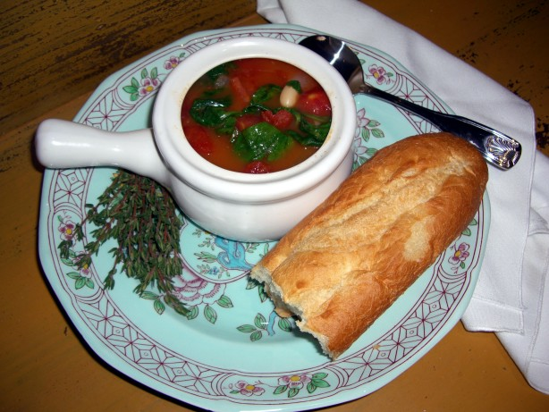 ... spinach and tomatoes tomato and vegetable white bean bean soup