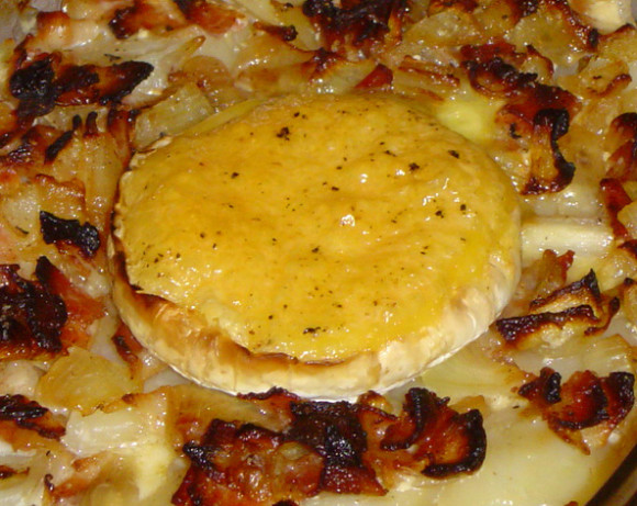 Molten French Camembert Potato Gratin With Bacon And Onions Recipe ...